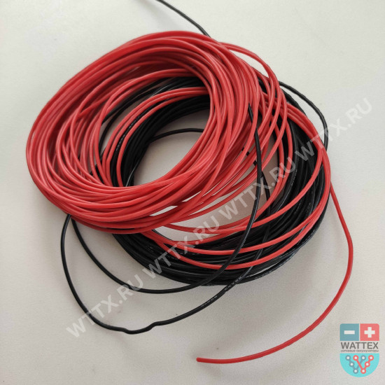 Силовой кабель силиконовый 22 AWG красный