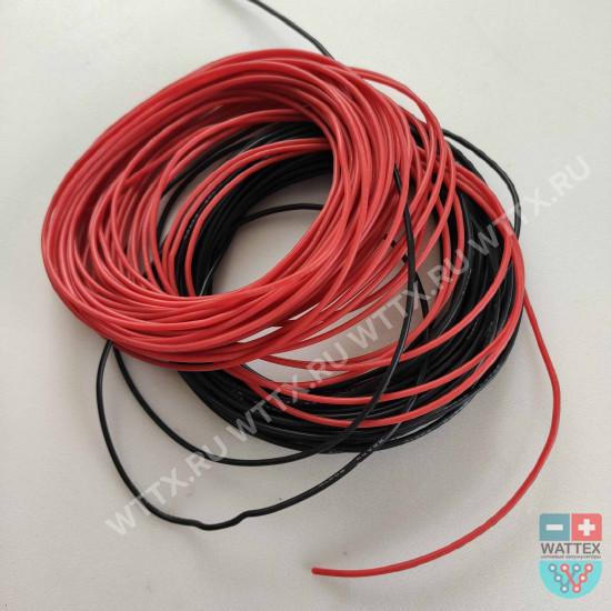 Силовой кабель силиконовый 22 AWG черный